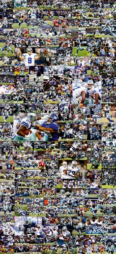 DALLAS COWBOYS  Art collage from 195 images 40 X 86 in / 100 x 220 cm