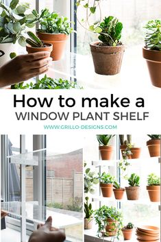 diy plant stand indoor Diy window plant shelf - Step by step tutorial on how to create indoor floating window shelves Window Shelf For Plants, Indoor Plant Shelves, Window Shelves, Plants On Balcony, Shelves For Plants, Corner Plant Shelf, Indoor Plant Stands, Indoor Window Plants, Indoor Herbs