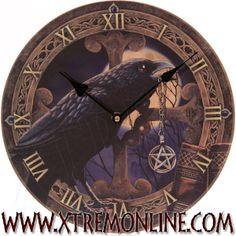 Reloj de pared Cuervo y Talismán de Lisa Parker.