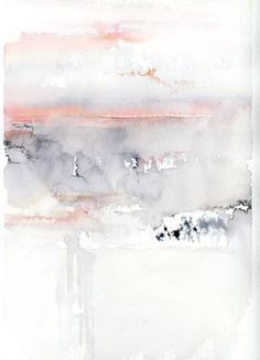 Pink Sky Painting by Alex Tolstoy - # Painting - Aquarell - Info Korea Abstract Watercolor, Abstract Art, Water Color Abstract, Pink Abstract, Watercolor Artists, Pink Watercolor, Watercolor Background, Painting Inspiration, Art Inspo
