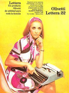Publicidad máquina de escribir Lettera Olivetti
