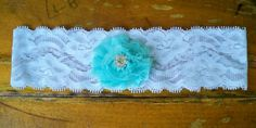 Aqua garter by BloomsandBlessings on Etsy