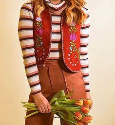"""Spring  STOREWIDE SALE  Happening now ! Use the coupon code """" SPRINGFEVER """" @ checkout for 25 % off all our groovy finds like this 1070's Hungarian floral embroidered vest and cozy 70's stripe turtleneck link in bio  -  -  -  #vintage #seventies #70s #sixties #60s #hippie #ootd #fashion #style #inspiration #inspo #vintagestyle #vintageclothing #boho #floral #spring #bohemian #bohochic #etsy #etsyshop #shopsmall #shopmissingaudrey #groovy #sale"""