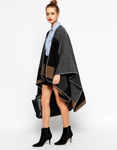 New Look Blanket Stitch Cape