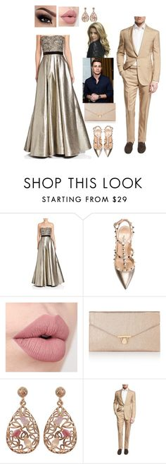 """""""mafia party. Ethan and Lin"""" by love-teen-fashions ❤ liked on Polyvore featuring Pamella, Pamella Roland, Valentino, Accessorize, Luxiro and Ralph Lauren Black Label"""