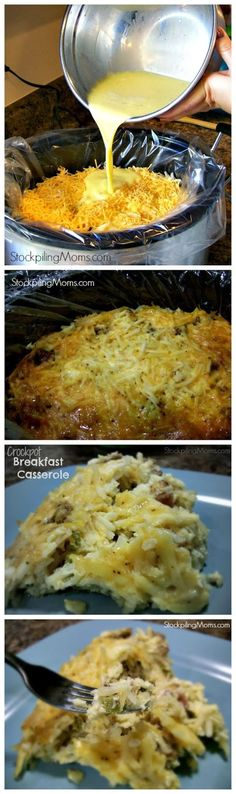 Crockpot Breakfast Casserole - Made this but it is not as flavorful as it could be.  We also had added optional green pepper and green onion.  All of us added more salt, and I felt like picante might have been in order.  I've had better casseroles.  This will be eliminated from my board.