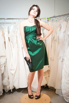 Strapless Emerald Green - Prom Shop Collection