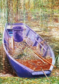 Monet's Punt by Ivan Rodger, Fine Art America  Barbara Ramos via Barbara Ramos onto PAINTING