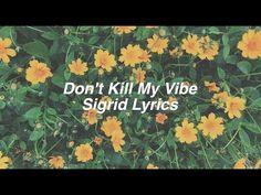 Don't Kill My Vibe || Sigrid Lyrics - YouTube