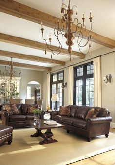 Gaylon Saddle living room grouping. You love this set up don't you? Make your living space as perfect as this picture with the help of a fabulous set such as this from Ashley Furniture.