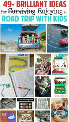 49+ Brilliant Ideas for ENJOYING (not just surviving) a Road Trip with Kids - from DIY games and activities to free printables, good behavior motivators, genius travel hacks and more, this list will not just save your sanity, but turn your trip into a fun family memory!