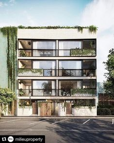 223 Napier Street Fitzroy on Behance Modern Residential Architecture, Residential Building Design, Facade Architecture, Facade Design, Exterior Design, 3d Architectural Visualization, Small Buildings, Building Facade, Apartment Design