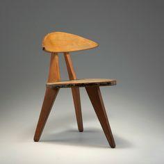 Walter Papst three legged modular sectioned children's chair 1954