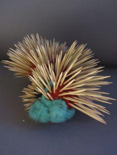 spikey snail felt and toothpicks 2011