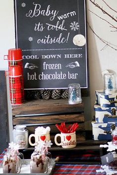 Frozen Hot Chocolate Bar for a Christmas in July celebration!