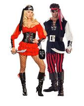 pirate wench adult costume couples womens costumes