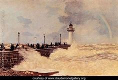 The Jetty At Le Havre - Claude Oscar Monet - www.claudemonetgallery.org