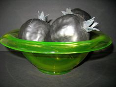 Vintage Hand Crafted  Burnished Pomegranate by NaughtNew on Etsy, $12.00