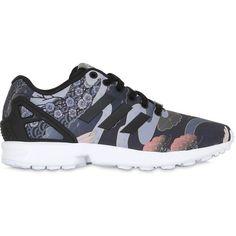 Adidas Originals By Rita Ora Women Zx Flux Printed Nylon Sneakers ($115) ❤ liked…