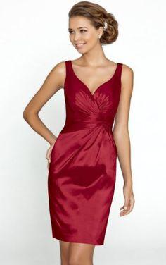 Gorgeous V-neck Short Sheath Bridesmaid Dresses,Zipper Bridesmaid Dresses,Bridesmaid Dresses