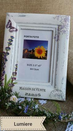 Foto frame lavander decoupage