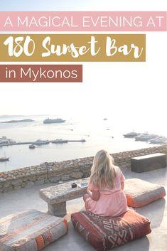 Sunset at 180 Sunset Bar in Mykonos | The Republic of Rose | #Mykonos #Greece #Sunset #Travel