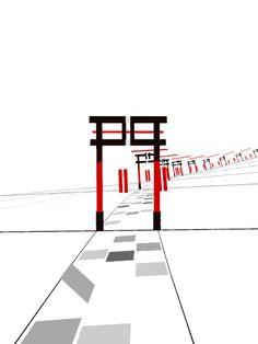 kanji【門】 gate Japanese Kanji giff