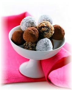 Essential oils infused chocolate truffles- you can use a variety of oils such as peppermint, lavender, cinnamon, or wild orange