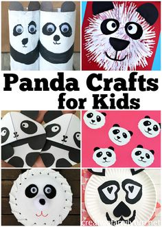 Your kids will love making one of all of these cutest panda crafts for kids. Grab the craft supplies and have some fun with these simple crafts. #kidscraft #kids