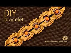 DIY Macramé Flower Bracelet with Beads ✿✿✿ - YouTube