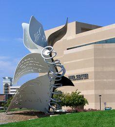 """""""Torn Notebook"""" Sculpture on Campus at University of Nebraska, Lincoln, Nebraska"""