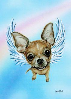 Chihuahua Angel Chihuahua Art Chihuahua Print Dog by ArtbyWeeze, $14.95