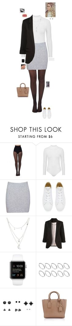 """Work attire "" by jesshorne2014 ❤ liked on Polyvore featuring Pretty Polly, Topshop, Boohoo, Converse, Charlotte Russe, WithChic, Disney, tarte, ASOS and Michael Kors"