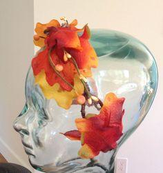 SOLD: Autumn Oak Leaf headband / Autumn Headband / by BohoEarthHeadbands https://www.etsy.com/shop/bohoearthHeadbands #boho #hippie #fairy #autumn