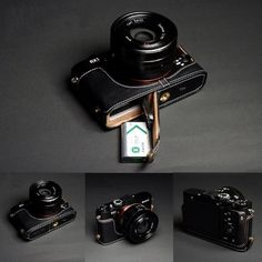 Amazon.com : Genuine Handmade Camera Half Leather Case Bag Cover for Sony RX1 DSC-RX1 RX1R (Bottom open-able) : Camera & Photo
