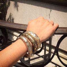 Arm party! #stack #bracelets #style #fashion #armparty #moreismore #lookoftheday #jjmarco