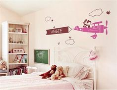 Very Personal Girl in the Plane Pattern Home Wall Decal Sticker
