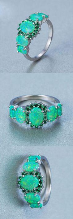 Graceful Kiwi Green Fire Opal Ring The Green Fire Opal Ring Kiwi, Moissanite Wedding Rings, Green Opal, Blue Green, White Opal, Green Fire, Whimsical Fashion, Opal Rings, Moonstone Ring