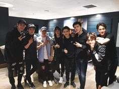 Just looks at them. Exo Ot12, Exo Chanyeol, Exo K, Kyungsoo, Baekyeol, Chanbaek, Exo Group, Exo Official, Wearing All Black