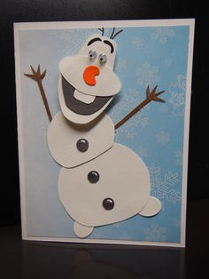 Watch V, Olaf, Sparkles, Snowman, Disney Characters, Fictional Characters, Christmas Cards, Felt, Inspired