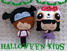 Felt Halloween Set  Halloween Kids   Set of by HarveyshouseCrafts