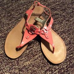 Tommy Hilfiger salmon sandals-very nice! Great cond.. Tommy Hilfiger Shoes Sandals