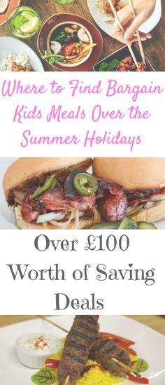 Cheap Restaurant Deals and Offers: Where to Find Bargain Kids Meals Over the Summer with & Worth of Savings by Laura at Savings 4 Savvy Mums. Summer Holiday Activities, Free Activities For Kids, Family Days Out Uk, Family Life, Toby Carvery, Restaurant Deals, School Holidays, Budget Meals, Money Saving Tips