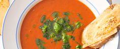 Rajčatová polévka s tousty s goudou Gouda, Thai Red Curry, Ethnic Recipes, Yum Yum