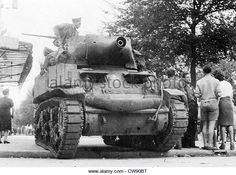 A tank from Leclerc division during Liberation Paris (August - Stock Image Gaulle, Military Vehicles, Ww2, French, Stock Photos, Paris, Photography, Image, World War