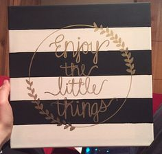 Enjoy the Little Things Canvas by KateStefani on Etsy