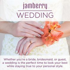 Stay true to your personal style on your wedding day, with Jamberry Nail Wraps. vikkicorones.jamberrynails.com.au