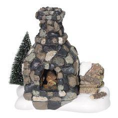 "Dept. 56 Village Accessories  ""Fieldstone Fireplace""  NIB"