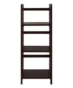 Look what I found on #zulily! Walnut Three-Shelf Folding Stackable Bookcase #zulilyfinds
