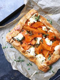 sage: Squash, Sage, Honey and Mozzarella Tart Vegetable Recipes, Vegetarian Recipes, Healthy Recipes, Tart Recipes, Cooking Recipes, Quiche, Savory Tart, Savoury Pies, Dinner Is Served